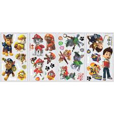 paw patrol peel and stick wall decals walmart com