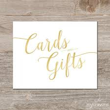 sign a wedding card gradient gold cards and gifts sign printable wedding card sign