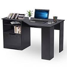 Wooden Corner Computer Desks For Home Amazon Com Devaise Wood L Shaped Corner Computer Desk For Home