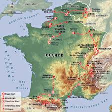 France On World Map by 2012 Tour De France Rideon