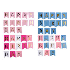Happy Birthday Flags Online Shop Glitter Happy Birthday Bunting Banner Gold Letters