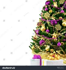 decorated christmas tree on white background stock photo 150662165