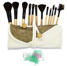 amazon com pure arielle 12 piece all natural makeup brush set
