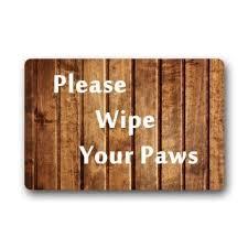 Buy Wipe Your Paws Door Buy Please Wipe Your Paws Custom Cute Cat Doormat 23 6x15 7