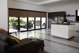 High Gloss Laminate Floor Natural Wood Frame Glazed Windows White High Gloss Finish