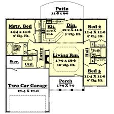 Ranch Style House Plans With Porch Ranch Style House Plan 3 Beds 2 00 Baths 1400 Sq Ft Plan 430 9