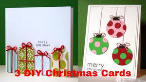 3 diy christmas cards diy christmas crafts how to make