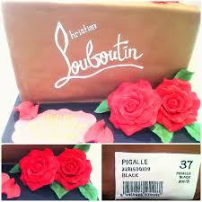 christian louboutin pigalle shoe box cake chérie kelly