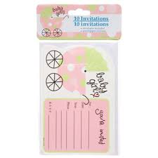 dollar store baby shower party baby shower invitations with envelopes 10 ct
