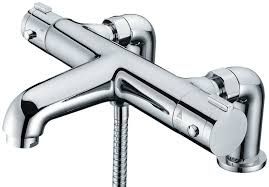 libra deck mounted thermostatic bath shower mixer tap ebay