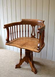 arts and crafts oak office chair c 1900 english from worboys