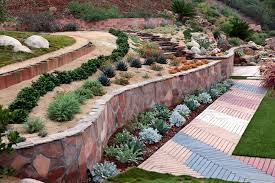 Landscaping Ideas Hillside Backyard Awesome Design Love The Layers Xeriscaping A Sloped Backyard