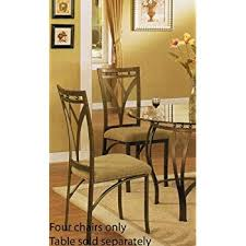 Amazoncom Set Of  Dining Chairs Traditional Bronze Finish - Four dining room chairs