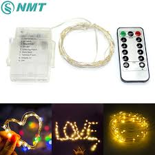 50 led copper wire string lights garland outdoor