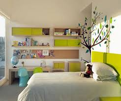 modish lime along with bookcase with colour decoration then study