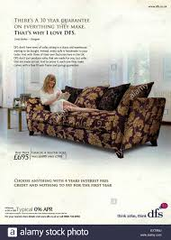 Sofa Beds Interest Free Credit by 2000s Uk Dfs Magazine Advert Stock Photo Royalty Free Image