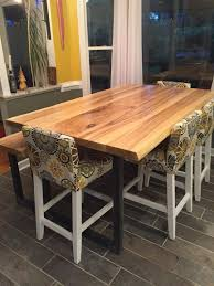 handcrafted live edge ash dining tables
