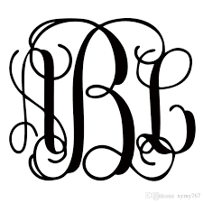 initials monogram 2018 for your initials custom vine monogram decal car styling car