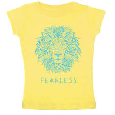 fearless lion baby kids short sleeve tee free to be kids