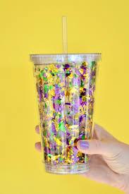 mardi gras cups diy mardi gras confetti go cup southern flair