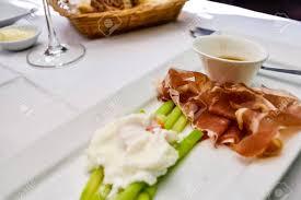 cuisine asperge asperge et jambon de parme food stock photo picture and