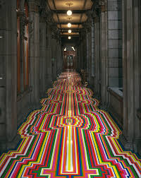 Floor Tape by Technicolor Rainbow Tape Floor Installations By Jim Lambie Colossal