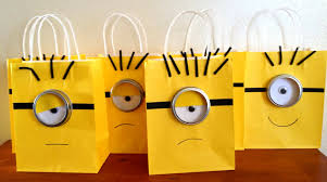minion gift bags mad s despicable me party somewhere in the middle