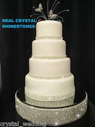 rhinestone cake diamante rhinestone wedding cake stand mirrored real swarovski