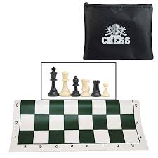 amazon com we games tournament chess set with bag for chessmen