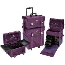 professional makeup artist organizer seya 2 in 1 purple fabric professional makeup artist rolling