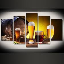 Beer Home Decor Limited Edition Beer 5pcs Painting Home Decor Canvas U2013 Pinpointweave