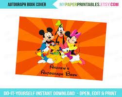 printable autograph book cover editable diy personalize