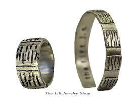 bracelet ring silver images Sterling silver bracelet ring gift set unisex 2 piece matching jpg