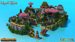 Pandas Map Kikoshi Islands Survival Games Map For Mineplex Youtube