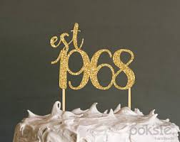 50th cake topper 50th birthday cake topper etsy