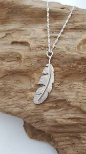 sterling silver handmade necklace images Beautiful 925 sterling silver handmade feather pendant necklace jpg