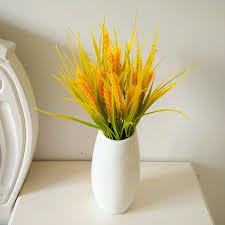 imitation plants home decoration 1 bunch artificial flowers rice ear grass plastic plants garden