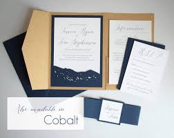 rustic pocket wedding invitations arapahoe basin mountain invitation set u2013 amethyst wild blue weddings