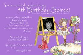 Design For Birthday Invitation Card 5th Birthday Invitation Wording For A Alanarasbach Com