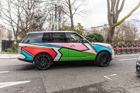 car range teddy m range rover art car