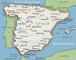 Spain On A Map Spanish By Anna Grace Martin