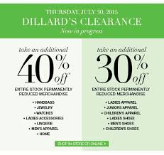 dillard s 30 40 clearance sale provo savers