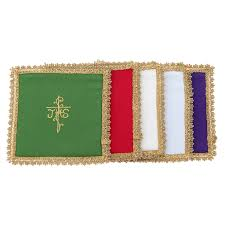 chalice veil chalice veil in vatican fabric polyester with removable card