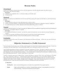 Combined Resume Examples by Good Objective Statements For Resume Haadyaooverbayresort Com