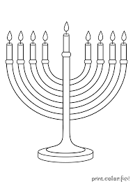 menorah for kids menorah coloring page menorah with seven candles coloring page