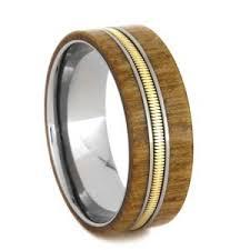 mens wedding bands wood 8mm tungsten carbide with 6mm hawaiian koa wood inlay k121m