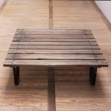 Table Acier Bois Industriel by Table Basse Palette Industrielle Vintage U2013 Phaichi Com