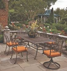 Patio Table 6 Chairs Bella By Hanamint Luxury Cast Aluminum Patio Furniture 6 Person