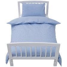 Gingham Duvet Covers Blue Gingham Cot Bed Duvet Cover Sweetgalas