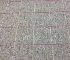 Pink And Grey Curtains Light Grey Pink Check Wool Fabric Uk Woven